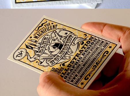 Artwork Letterpress Design business cards
