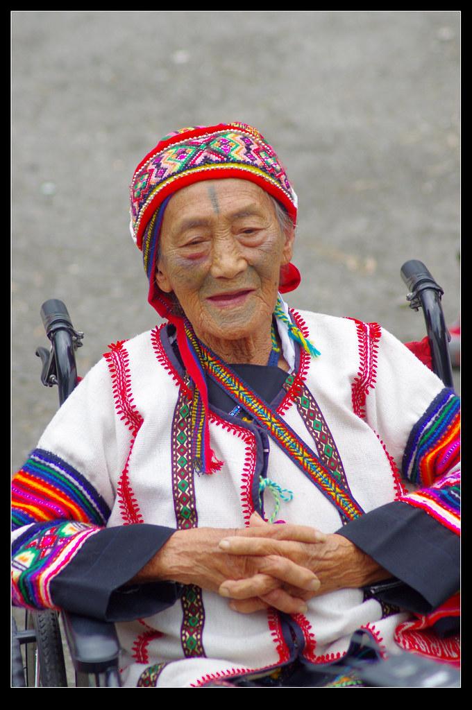 雪見。泰雅族紋面耆老