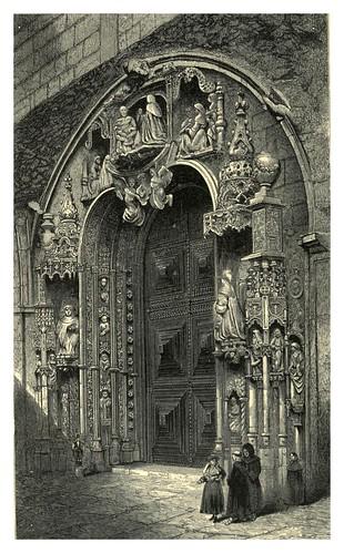 013-Puerta oeste de la Iglesia de Los Jeronimos en Belem-Fair Lusitania -1874