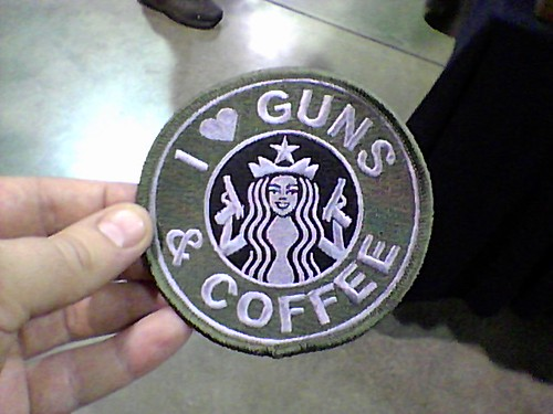 Yay! Guns and coffee!