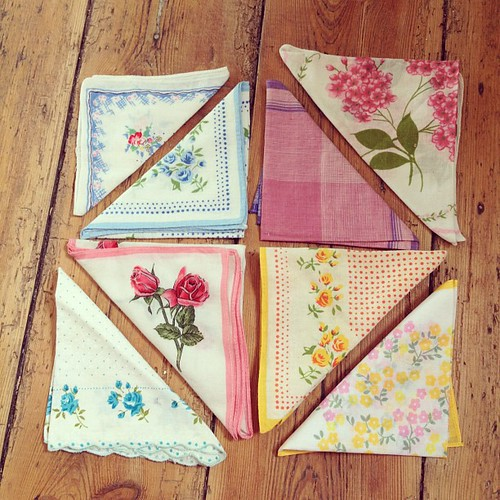 Eight handkerchiefs with which to make bunting