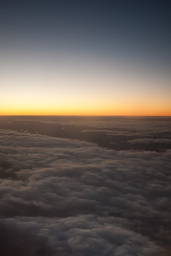 Above Hobart's clouds