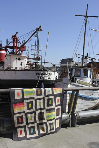 Sailboats and quilt
