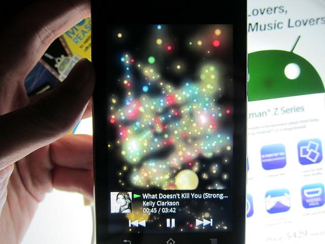 Sony Walkman Z1050 - Visualizer