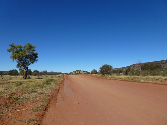 Taking the dirt track from Uluru to Alice Springs