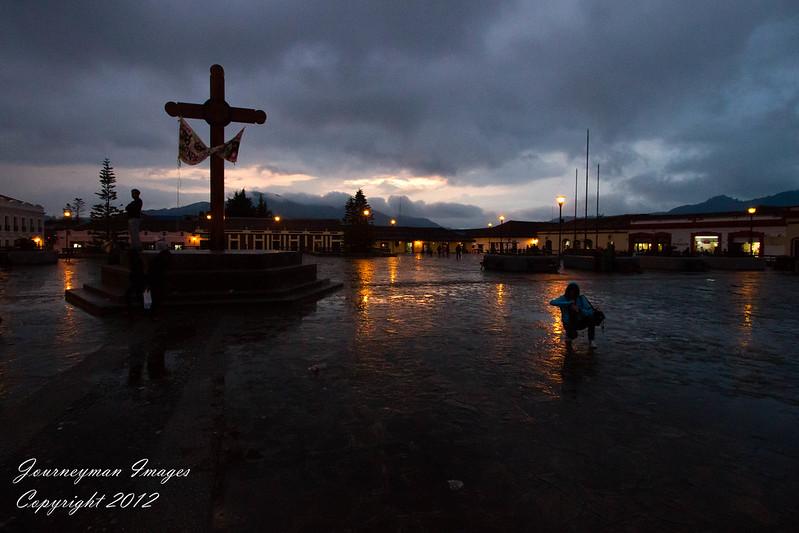 The Zocalo in the Rain