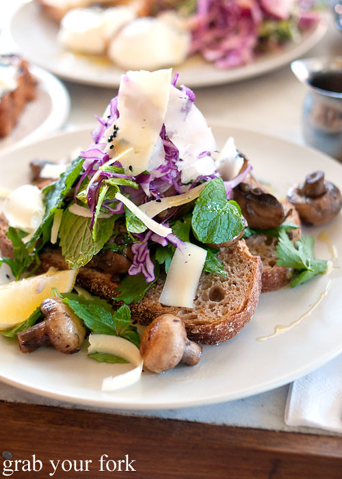 garlic mushrooms at cornersmith marrickville
