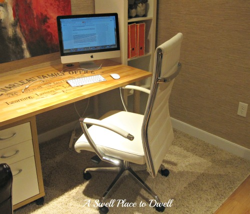 White Leather Office Chair 3