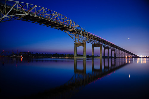 Calm Morning Under Lake Charles I10 Bridge
