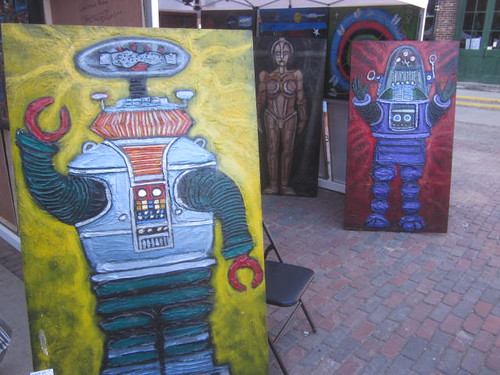 Christian Aldo, art paintings, robots, high bass relief, pieces, Toronto, artist