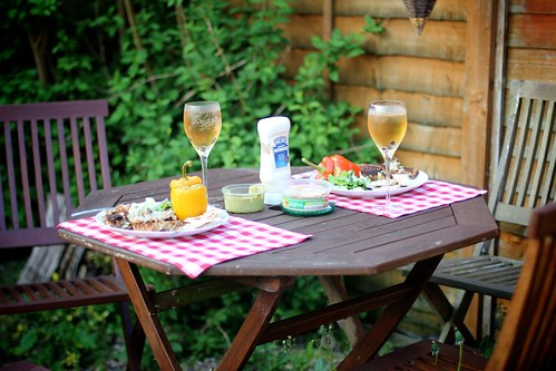 24.05.12 :: Home-made Simple Summer Fishcakes Enjoyed Al Fresco.
