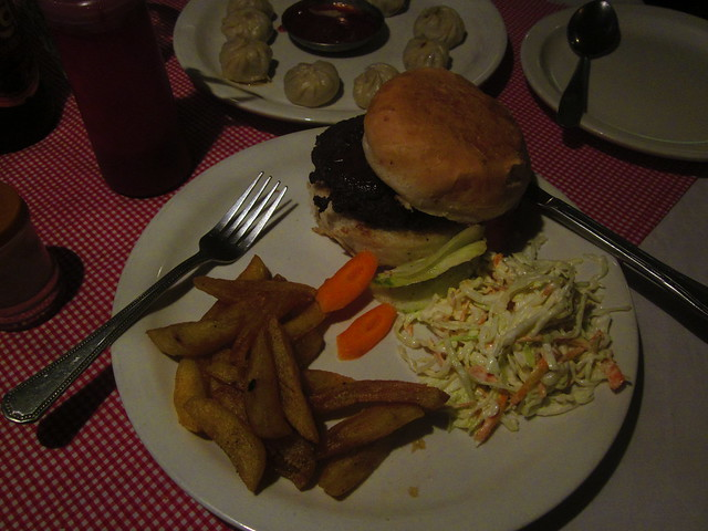 yak burger in Jomsom!