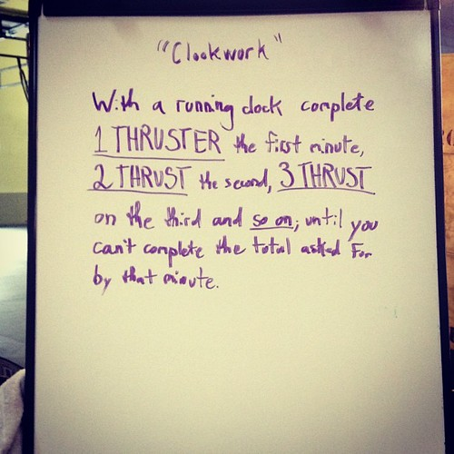 Today's fun. #wod