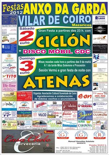 Mazaricos 2012 - Festas do Anxo da Garda en Vilar de Coiro - cartel
