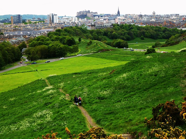 View of Edinburgh from Holyrood Park