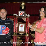 Contestants posed for mock victory lane photos