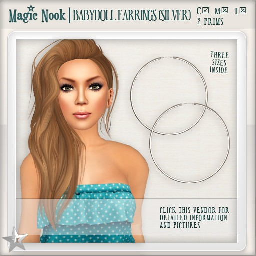 [MAGIC NOOK] Babydoll Earrings (Silver)