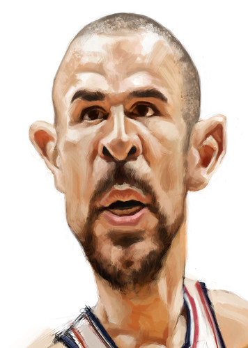 digital caricature of Jason Kidd - 3