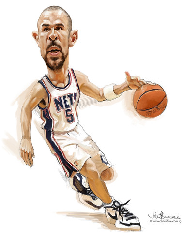 digital caricature of Jason Kidd - 4