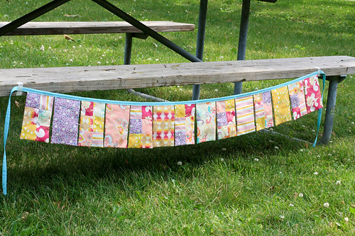 Patchwork Bunting Tutorial by jenib320