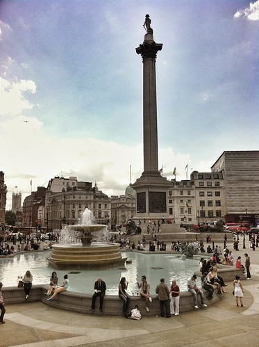 Chilling at Trafalgar Square by Cool Pix Man