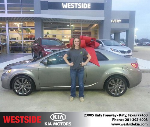 Congratulations to Haley Thompson on your #Kia #Forte Koup purchase from Rubel Chowdhury at Westside Kia! #NewCar by Westside KIA