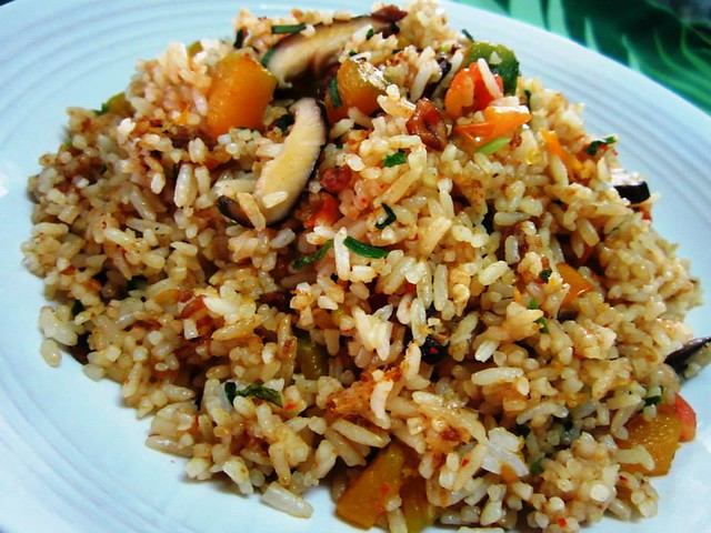 Vegetarian fried rice 1