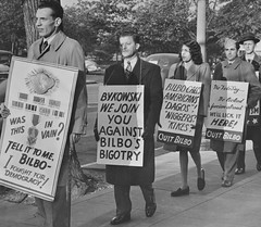 Bykowksi Leads Pickets Against Bilbo: 1945
