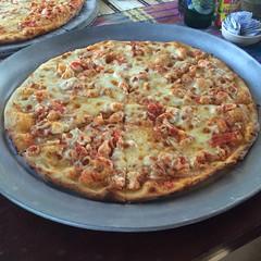 La ampulosa pizza Marinara... @ Esencia Nativa, SV