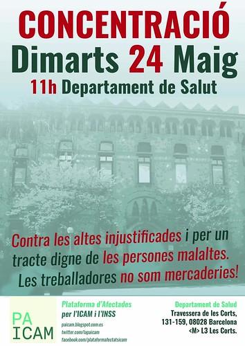 Concentració PAICAM 24 maig