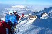 Ararat Skitour, 5165 m. Aufstieg zum Gipfel, auf rund 4800 m Höhe. Foto: Günther Härter.