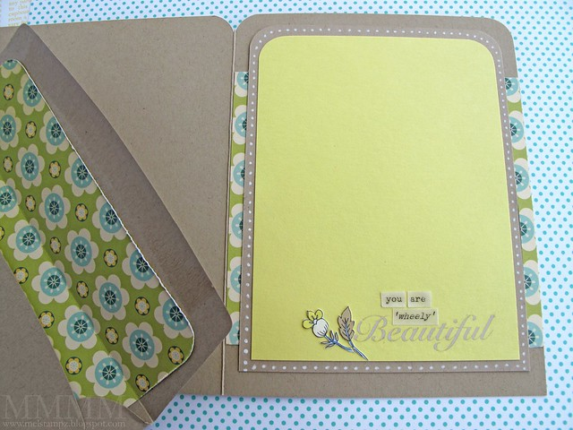inside - you are wheely beautiful card