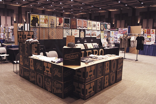 Our Booth at Flatstock 33 at SXSW in Austin, Texas