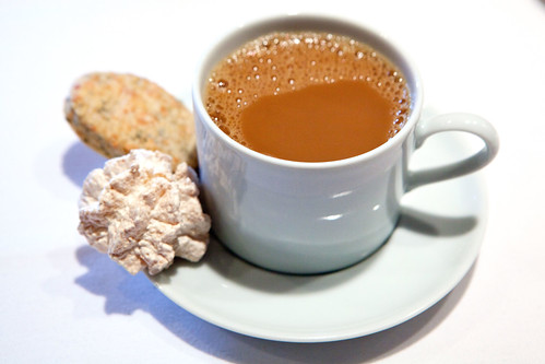 Coffee and coconut macaroon and Parmesan Rosemary cookie