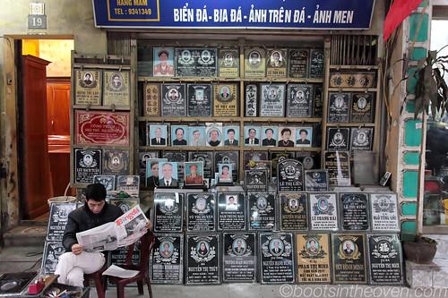 Headstone shop