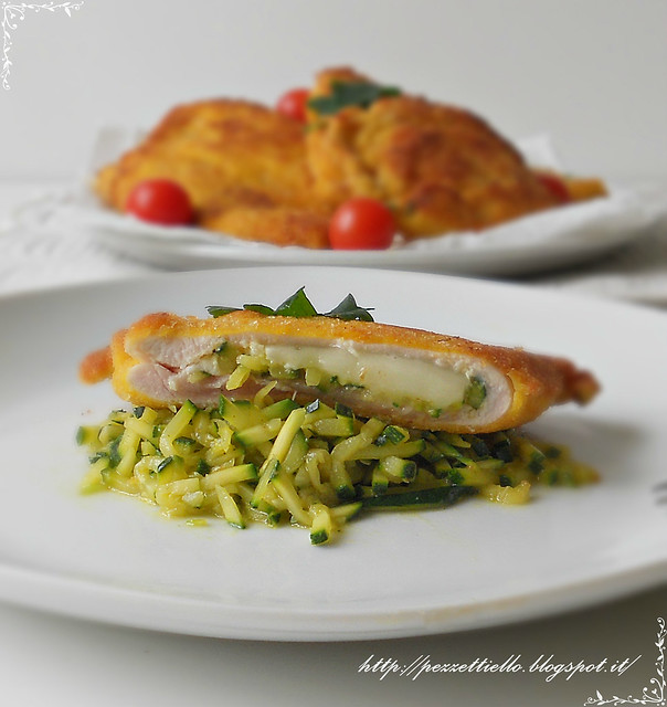 fettine con formaggi e zucchini