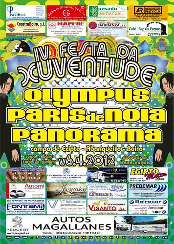 Boiro 2012 - IV Festa da Xuventude en Abanqueiro - cartel