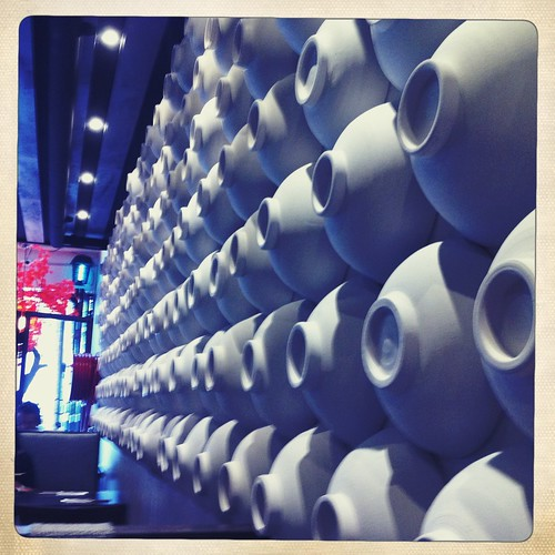 love the ramen bowls on the wall!