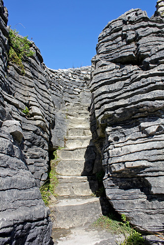 Pancake rock steps
