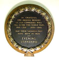 Evening Standard war memorial