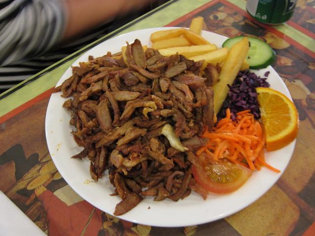 Jeroen's turkey shoarma plate