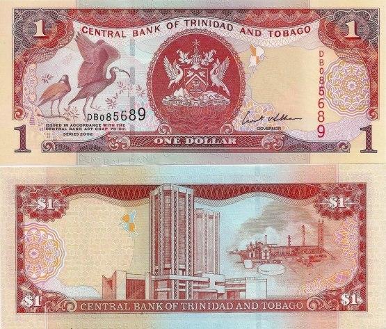 1 Dolár Trinidad a Tobago 2002, Pick 41