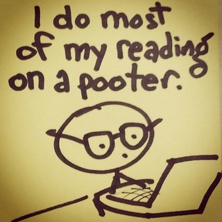 I do most of mt reading on a pooter