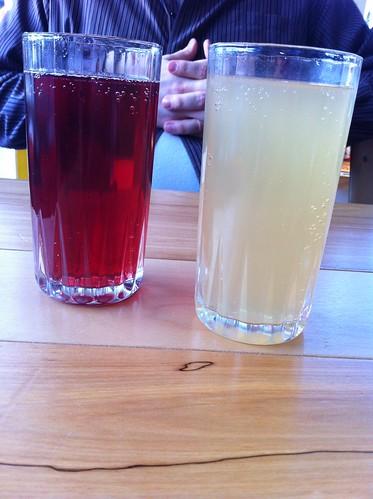 maple lemonade soda and blackcurrent cherry