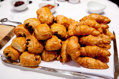 Mini chocolate croissants and mini croissants