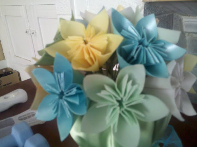 Origami Flowers Wedding Centerpiece Flickr Photo Sharing