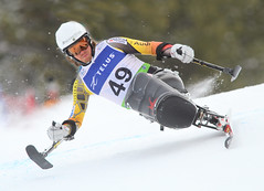 Josh Dueck in action in an IPC World Cup super-G in Panorama, B.C.