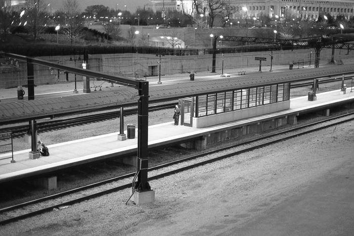 at the platform ...
