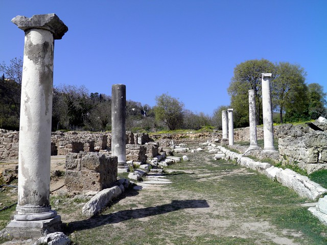 Central columned street, Ancient Edessa
