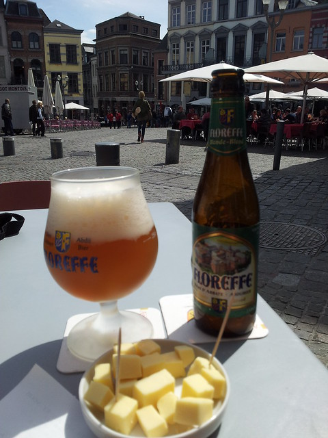 Having a Beer, Grand Place, Mons